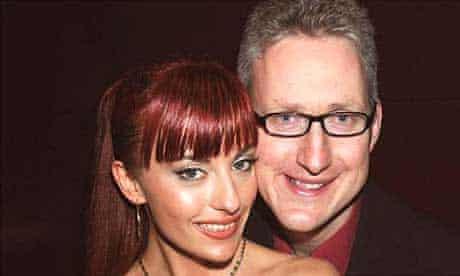 Lembit Opik with his fiancee, Gabriela Irimia. Photograph: John Stillwell/PA