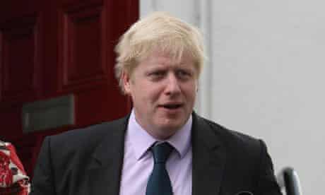 Boris Johnson leaves his home in Islington, north London, on May 2 2008. Photograph: Dominic Lipinski/PA
