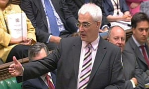 Alistair Darling, the chancellor, speaking during a Commons statement on a proposed compensation package for people who lost out as a result of the scrapping of the 10p tax band, on May 13 2008. Photograph: PA Wire