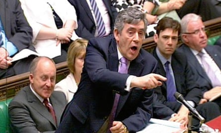 Gordon Brown in the Commons today. Photograph: PA