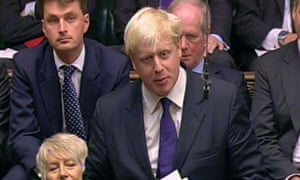 Boris Johnson makes his final appearance in parliament as MP for Henley on June 4 2008. Photograph: PA Wire