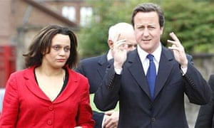 David Cameron, right, with Davena Rankin, the Tory candidate for the Glasgow East byelection