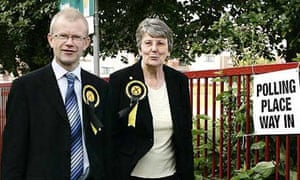 John Mason, the SNP candidate in the Glasgow East casts his vote in Barlarnark