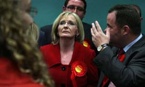 Losing Labour candidate Margaret Curran at the count