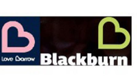 The rival Blackburn and Barrow logos