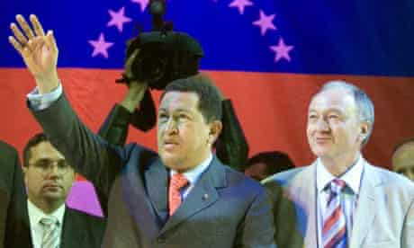Hugo Chavez, Hugo Chávez with Ken Livingstone in London in May 2006. Photograph: Leon Neal/AFP/Getty Images