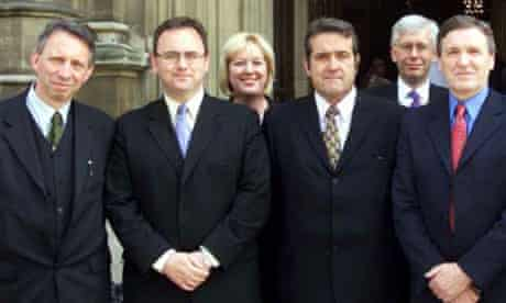 David Cairns with other new MPs outside the House of Commons in 2001. Photograph: Sean Dempsey/PA