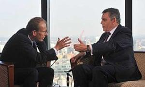 Gordon Brown speaking to BBC1's Andrew Marr