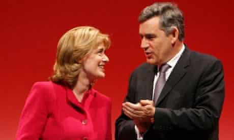 Ruth Kelly and Gordon Brown at the Labour conference in Manchester on September 24 2008. Photograph: Leon Neal/AFP/Getty Images