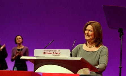 Sarah Brown introducing her husband at the Labour conference in Manchester on September 23 2008. Photograph: Dave Thompson/PA