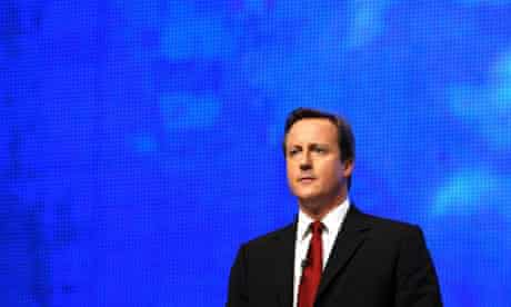 David Cameron at the Conservative conference in Birmingham on September 28 2008. Photograph: Christopher Furlong/Getty Images