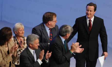 David Cameron at the Conservative conference in Birmingham on September 28 2008. Photograph: Stefan Rousseau/PA Wire