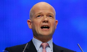 William Hague speaks at the Conservative conference in Birmingham on September 28 2008. Photograph: Carl de Souza/AFP/Getty Images