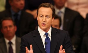 David Cameron speaking at the Conservative party conference in Birmingham on October 1 2008. Photograph: Chris Radburn/PA Wire