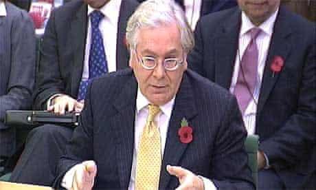 Mervyn King Darling speaking to the Commons treasury committee