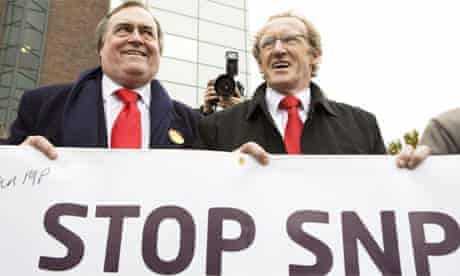 Labour candidate Lindsay Roy and John Prescott campaigning in the Glenrothes byelection