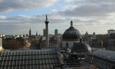 View of the London skyline from the top floor of the National Portrait Gallery.Photograph: Paul Owen