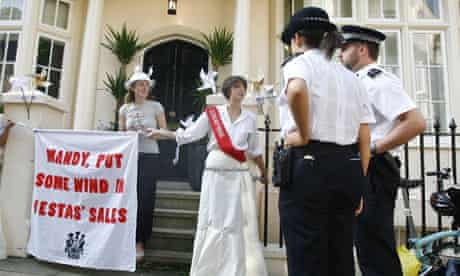 Environmental protest at Lord Mandelson's home