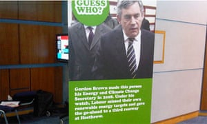 Poster at the Conservative party conference