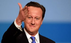 David Cameron delivers his keynote address at the Conservative party conference in Birmingham