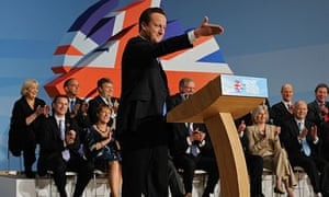David Cameron addresses delegates on the final day of the Conservative conference in Birmingham