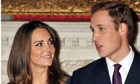 Prince William and Kate Middleton, who are to marry next year