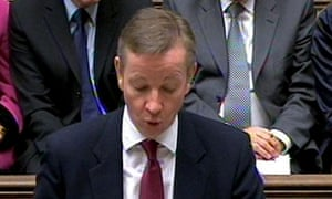 Michael Gove speaking in the Commons today
