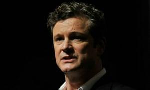 Colin Firth speaking at the Dubai International Film Festival