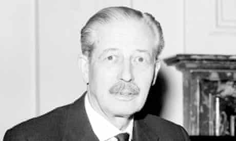 Former prime minister Harold Macmillan, who warned Margaret Thatcher against deep cuts