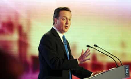 David Cameron speaks during the third and final leaders' debate in Birmingham