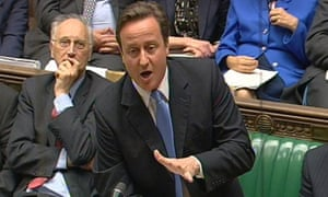 David Cameron during prime minister's questions on 16 June 2010