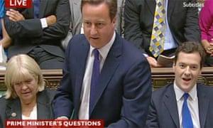 David Cameron at PMQs 23 June 2010