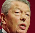 Alan Johnson speaking at the Labour prty's annual conference in Manchester