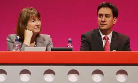 Harriet Harman and Ed Miliband at the Labour party conference