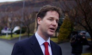 Nick Clegg campaigning in the Oldham East and Saddleworth seat last week