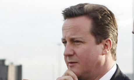 David Cameron pictured in the Wirral on 6 January 2010