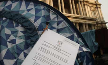 Occupy London protesters get eviction notice