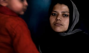 Gulnaz, pictued in Badam Bagh women's prison with her daughter