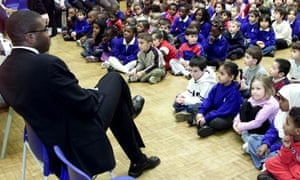 David Lammy speaks to pupils at his former primary school