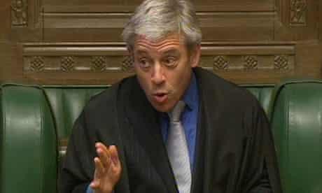 John Bercow, the Commons Speaker