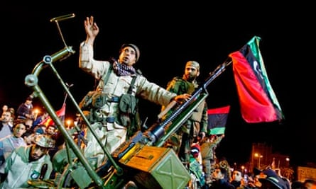 The Eastern Rebel Army in a show of Force in Benghazi, Libya