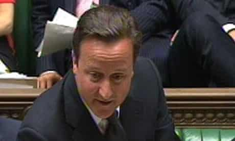 David Cameron, who did not rule out a judicial inquiry into phone hacking