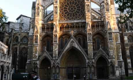 Westminster Abbey in central London, where the royal wedding will take place on Friday