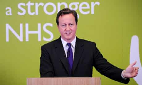 David Cameron makes a speech to doctors and nurses on NHS reforms during a visit to Ealing hospital