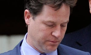 Nick Clegg, who has threatened to veto the government's health service reform plans