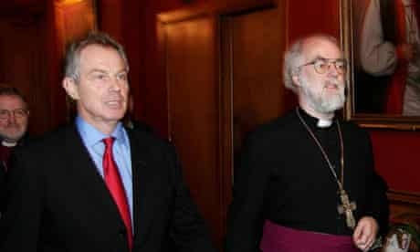 Tony Blair and Rowan Williams pictured in 2006