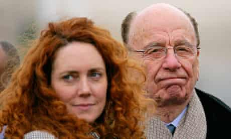 Rebekah Brooks and Rupert Murdoch, pictured last year