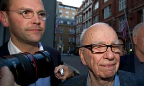 Rupert Murdoch and his son James, who have been summonsed top appear before MPs