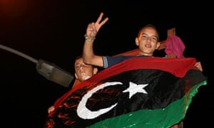 Celebrations in Tajura, a suburb of Tripoli, after rebels surged into the city on Sunday