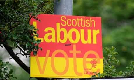 Scottish Labour party sign